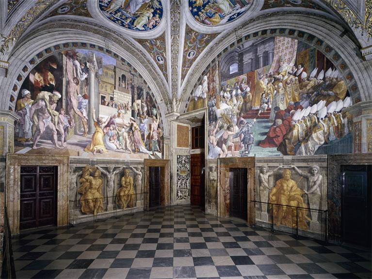 Estancia del Incendio del Borgo con frescos de Rafael en los Museos Vaticanos